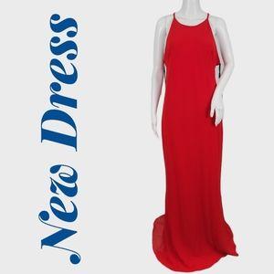 Calvin Klein Halter Crepe Sheath Dress